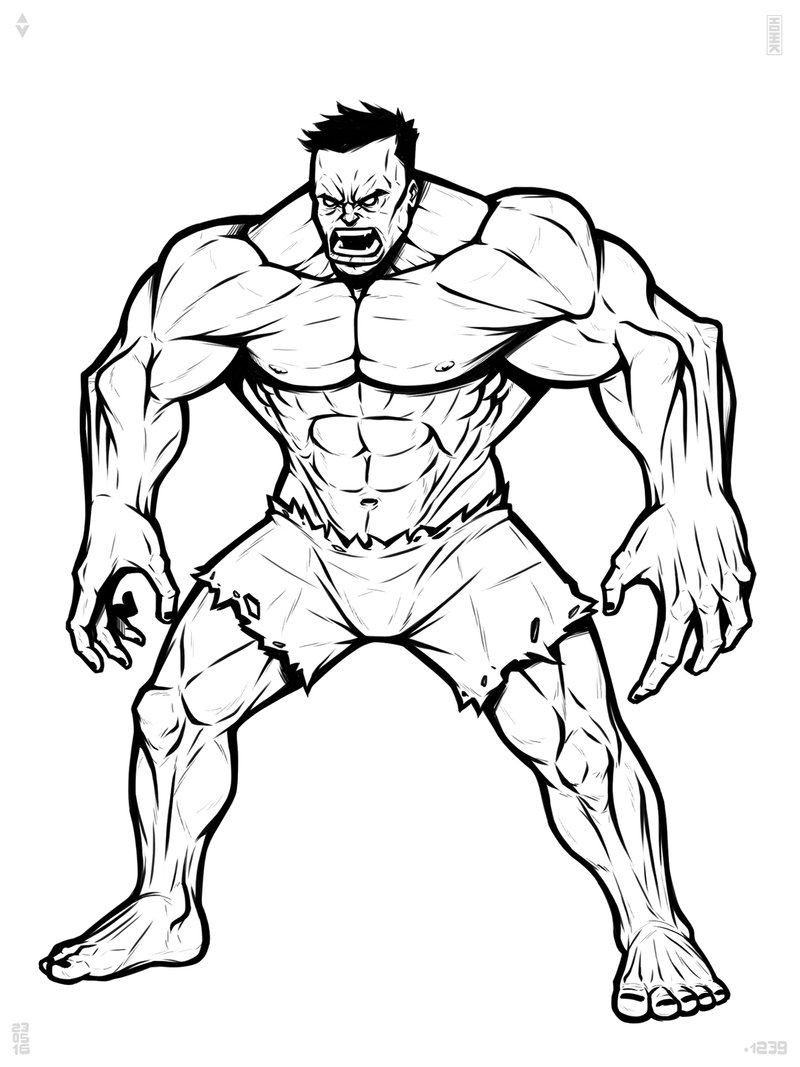how to draw hulk easy step by step how to draw retro hulk from marvel comics with easy step to by step draw hulk step how easy
