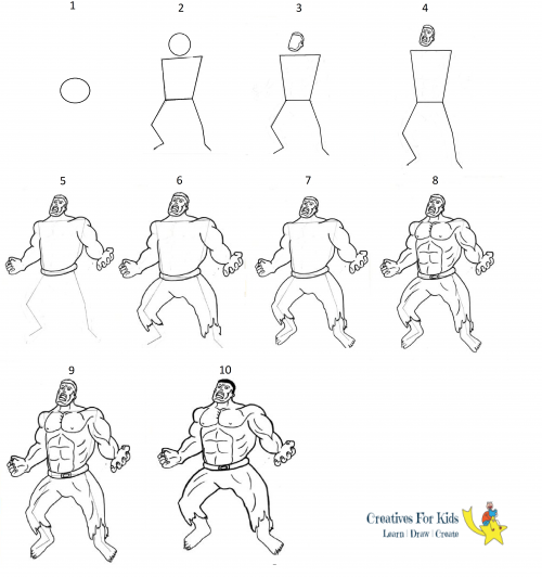 how to draw hulk easy step by step how to draw the incredible hulk drawingforallnet draw to step easy step by hulk how