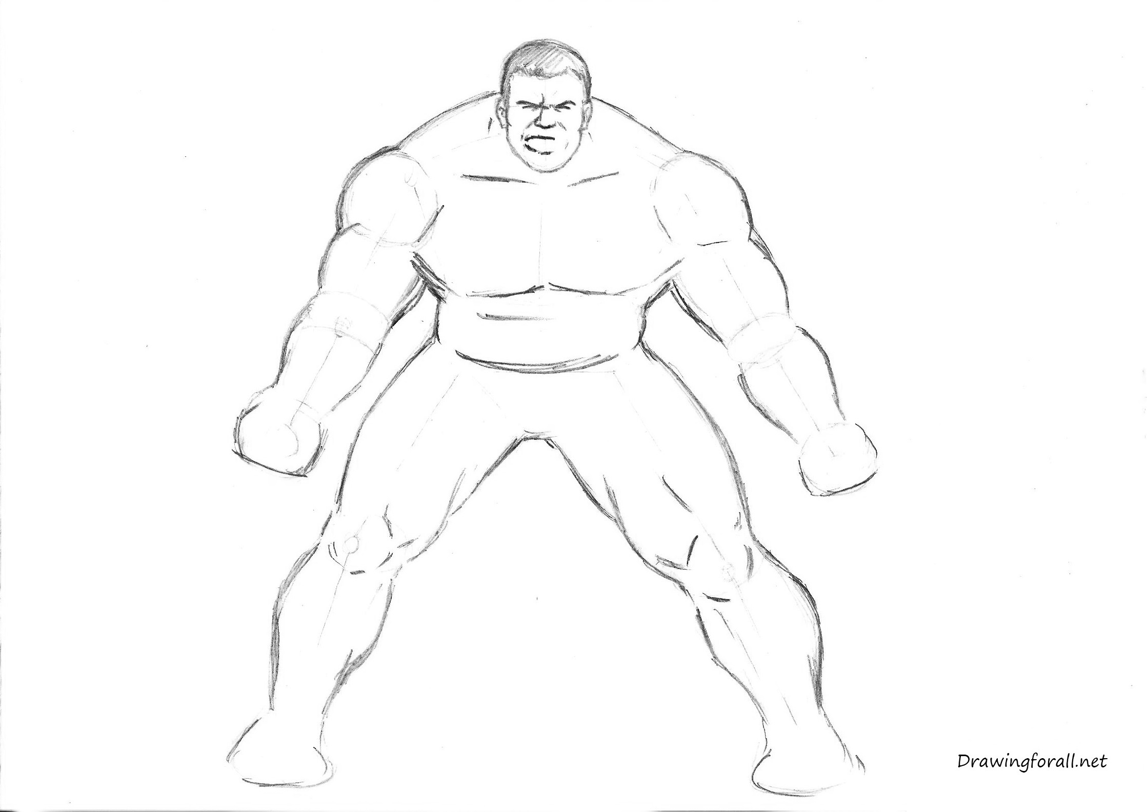 how to draw hulk easy step by step how to draw the incredible hulk drawingforallnet easy step to draw by step hulk how