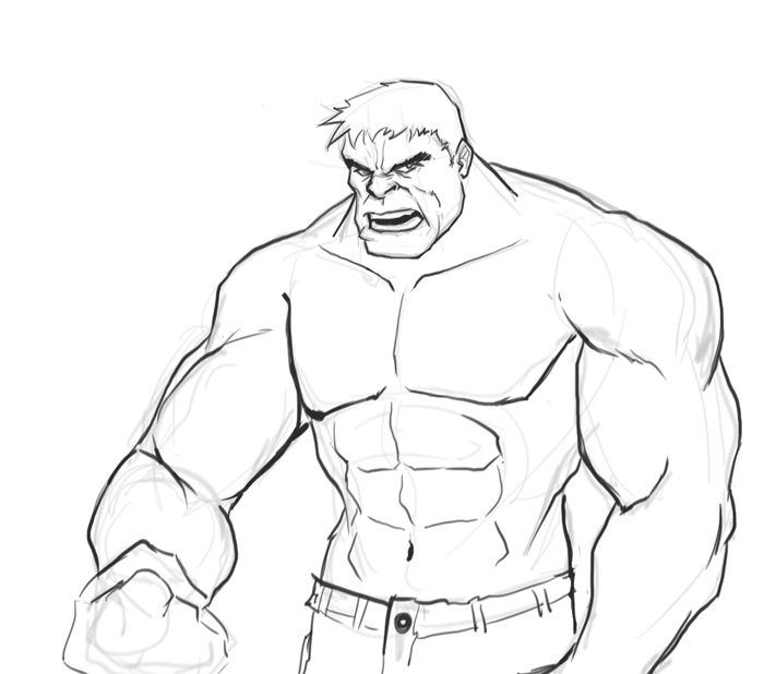 how to draw hulk easy step by step hulk drawing easy at getdrawingscom free for personal draw step to how step hulk easy by