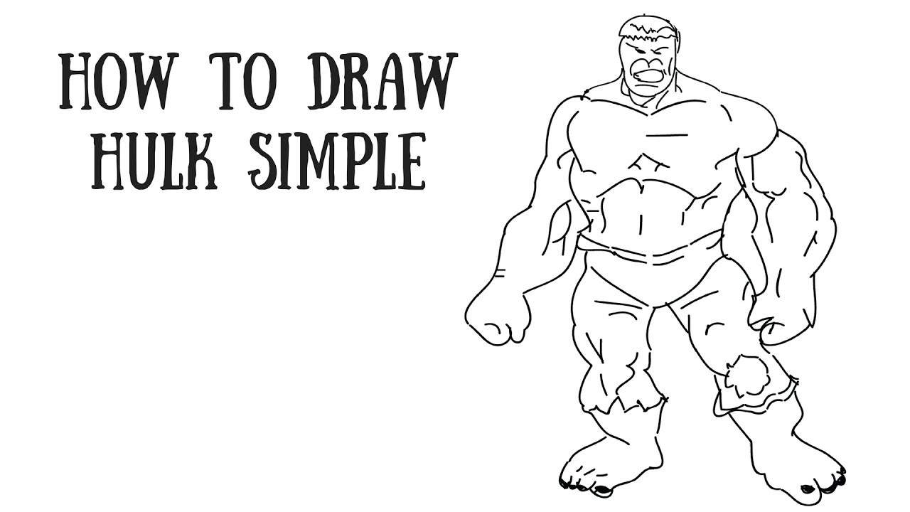 how to draw hulk easy step by step hulk drawing easy at paintingvalleycom explore by to step hulk step easy how draw