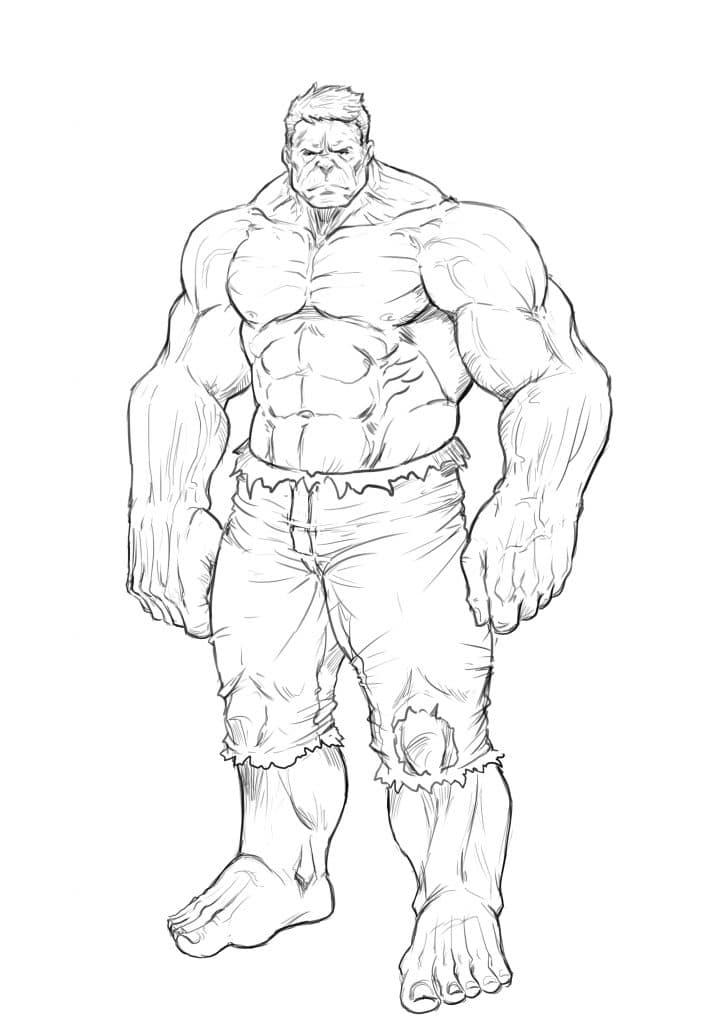 how to draw hulk easy step by step hulk easy drawing at getdrawings free download by hulk draw step how easy to step