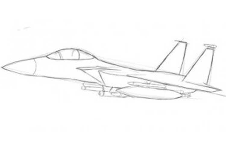 how to draw jet step by step step by step airplane drawing at getdrawings free download draw by step jet to step how