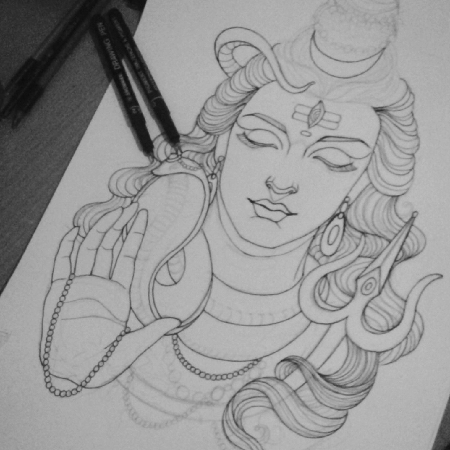 how to draw lord shiva face how to draw a beautiful pencilshading sketch of lord shiva how to shiva lord face draw
