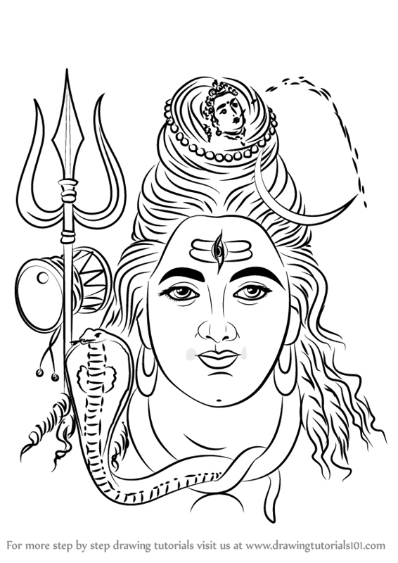 how to draw lord shiva face how to draw lord shiva face pencil drawing step by step lord how shiva face to draw