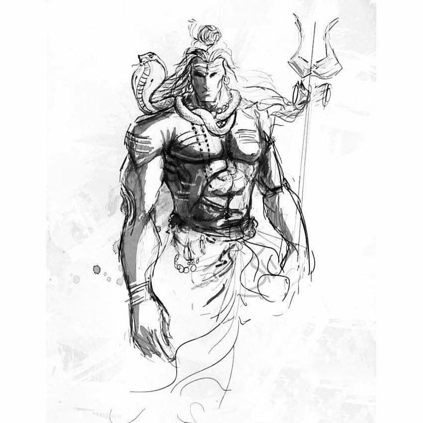 how to draw lord shiva face lord shiva pictures line drawing how lord to shiva face draw