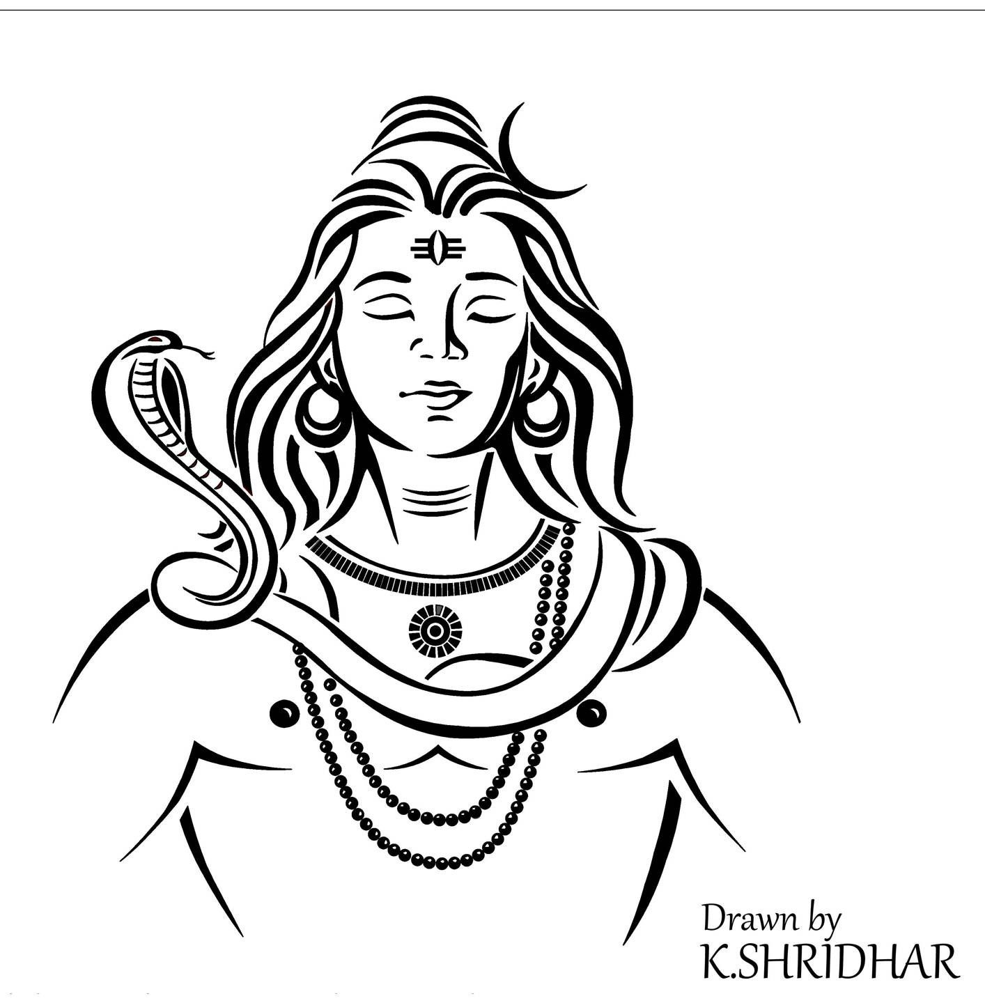 how to draw lord shiva face pencil drawing murugan drawing easy face lord how to shiva draw