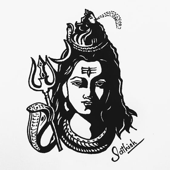 how to draw lord shiva face pin by archetype on shiva in 2020 shiva art shiva lord how to lord shiva face draw