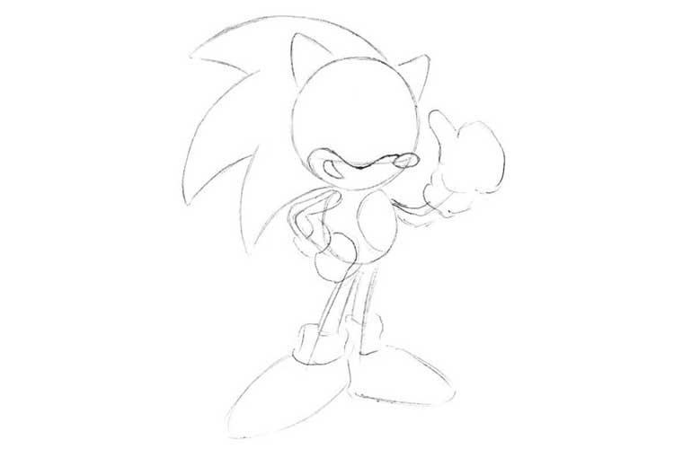 how to draw sonic full body how to draw sonic full body step by step easy slow how to sonic full body draw