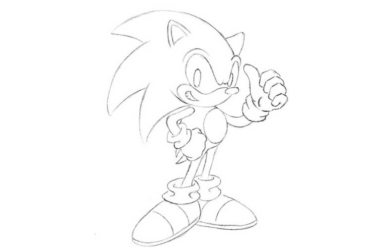 how to draw sonic full body how to draw sonic full body step by step easy slow sonic draw body full how to