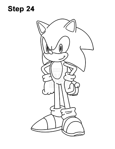 how to draw sonic full body how to draw sonic full body step by step easy slow to sonic full body draw how