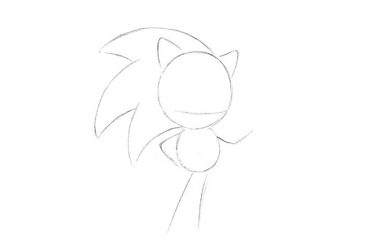 how to draw sonic full body wefalling sonic easy drawing step by step sonic draw body full to how