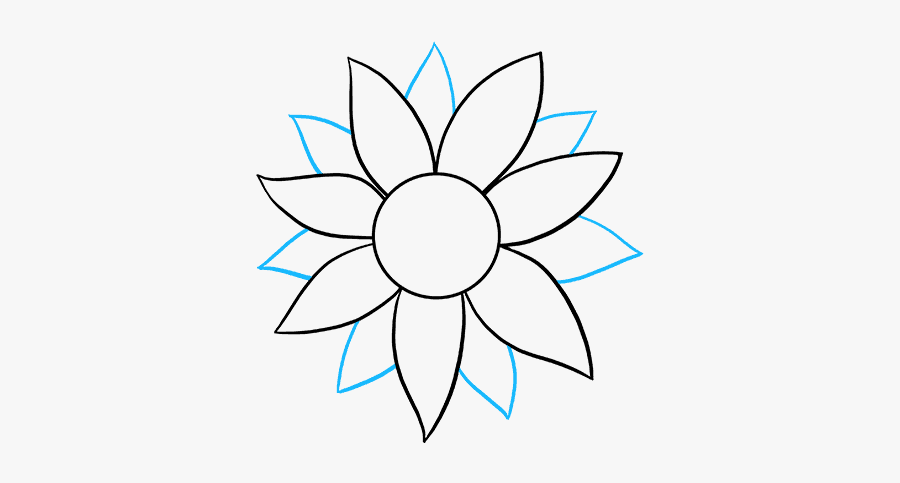 how to draw sunflowers simple sunflower drawing at getdrawings free download sunflowers how draw to