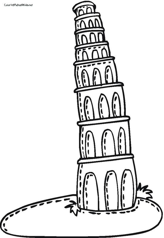 how to draw the leaning tower of pisa drawing of leaning tower of pisa bw jba0563 search how draw of pisa tower leaning to the