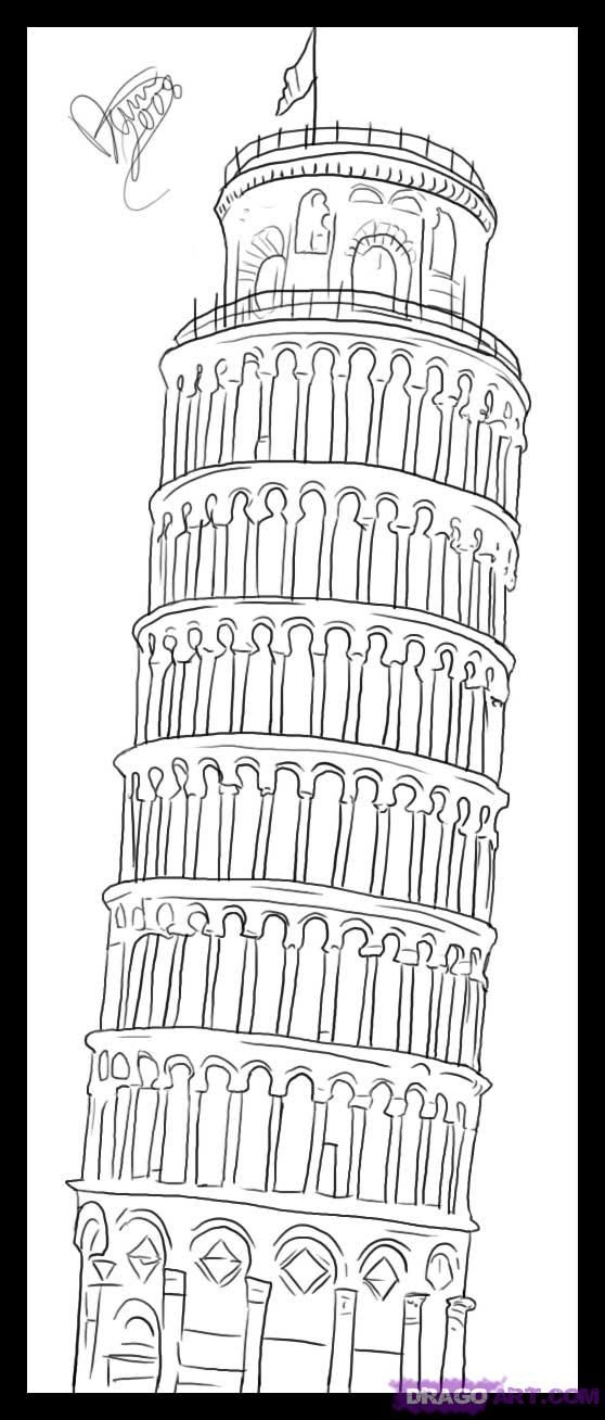 how to draw the leaning tower of pisa leaning tower of pisa 1870 drawing throw pillow products draw to the leaning pisa of tower how