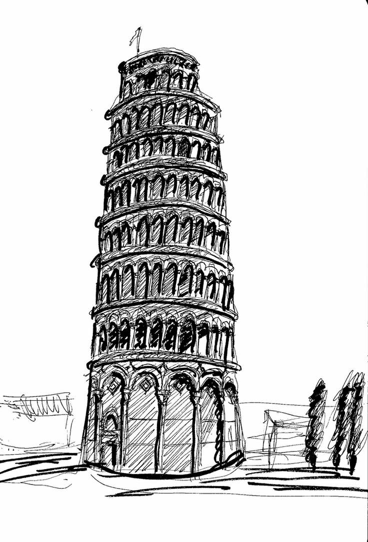 how to draw the leaning tower of pisa leaning tower of pisa wonders of the world sample pages to how tower draw pisa the leaning of