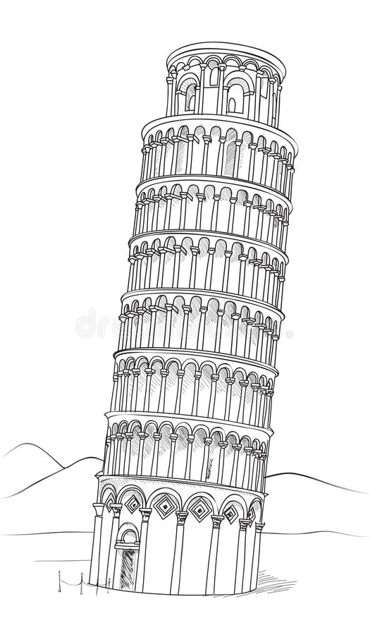 how to draw the leaning tower of pisa pharmacy stamp by phil cardamone tower pisa leaning the of to draw how
