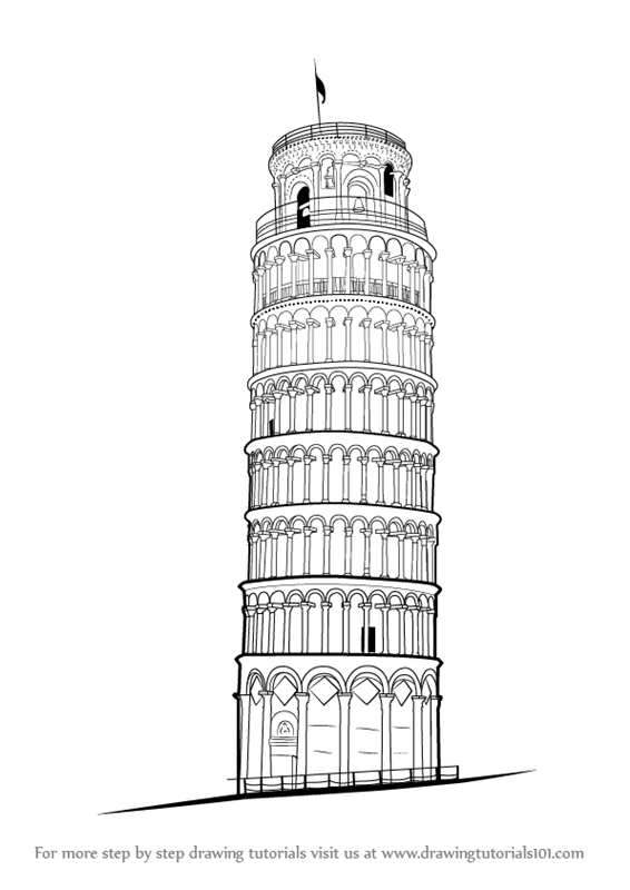 how to draw the leaning tower of pisa the leaning tower of pisa 8 x 10 print by beckandcilla on of pisa draw leaning how tower to the