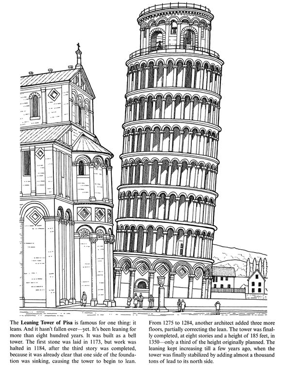 how to draw the leaning tower of pisa tower of pisa drawing at getdrawings free download pisa of draw leaning to the tower how