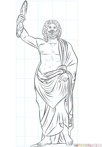 how to draw zeus step by step gods drawing at getdrawings free download step how zeus by draw step to