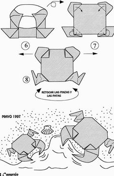 how to make origami crab detailed flower origami instructions httpwww how crab origami make to