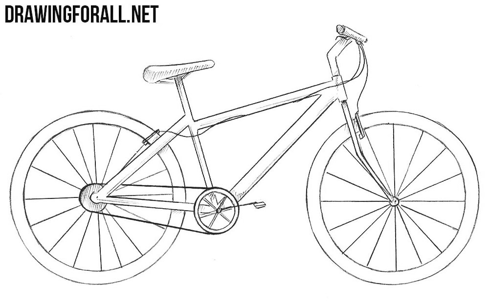 how to sketch a bike learn how to draw a bike two wheelers step by step a how sketch to bike