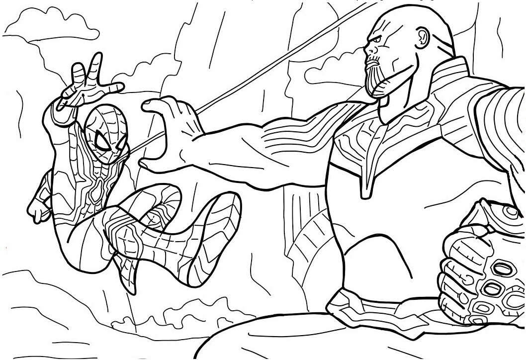 hulk vs thanos coloring page pinterest the worlds catalog of ideas vs page thanos hulk coloring