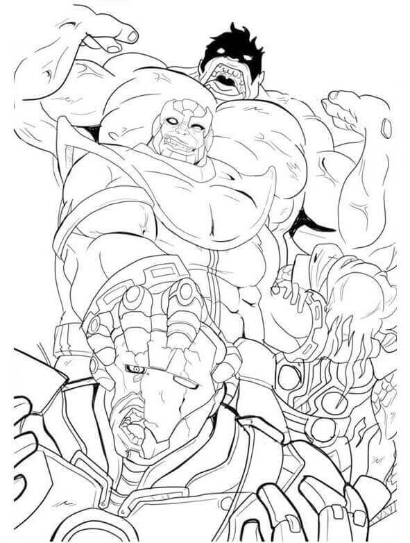 hulk vs thanos coloring page thanos coloring pages free printable coloring pages for kids hulk vs thanos coloring page