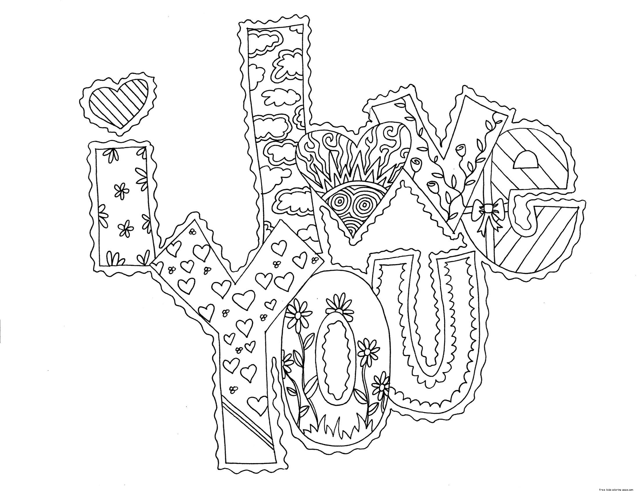 i love you printable coloring pages quoti love you quot coloring pages love coloring printable you i pages