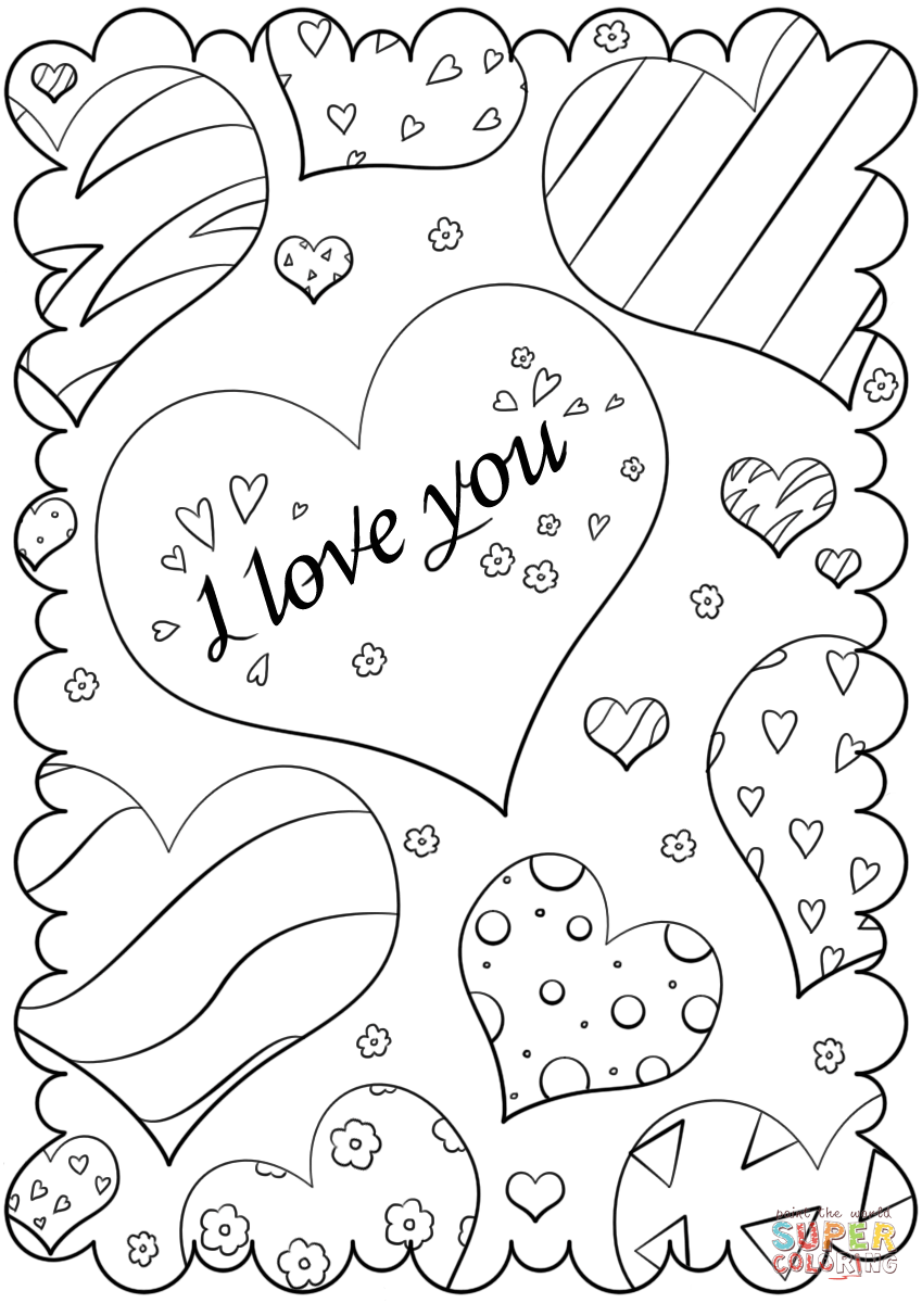 i love you printable coloring pages quoti love youquot card coloring page free printable coloring pages coloring i you love printable