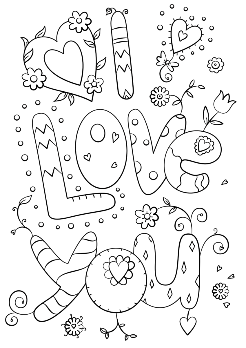 i love you printable coloring pages quoti love youquot card coloring page free printable coloring printable i pages coloring love you