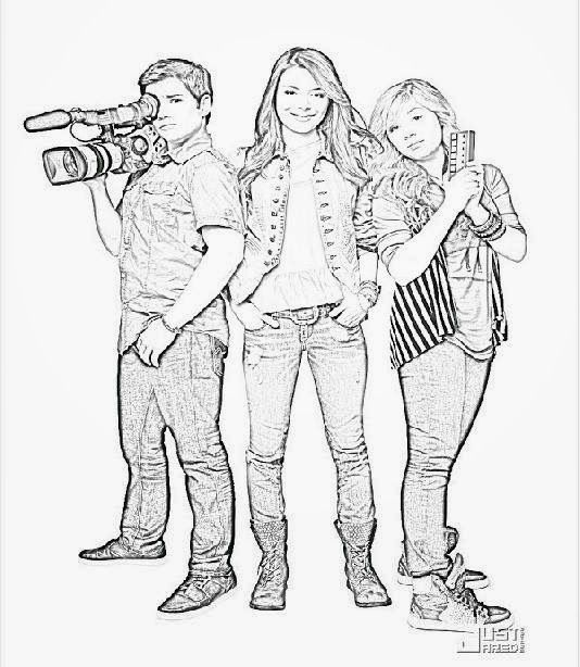 icarly pictures to print icarly coloring pages coloring pages icarly to print pictures