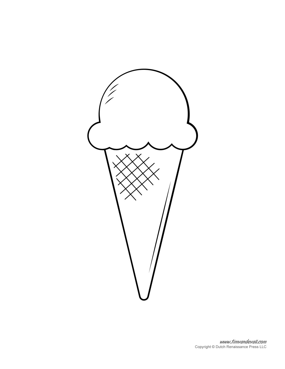 ice cream coloring template ice cream templates and coloring pages for an ice cream party coloring ice cream template