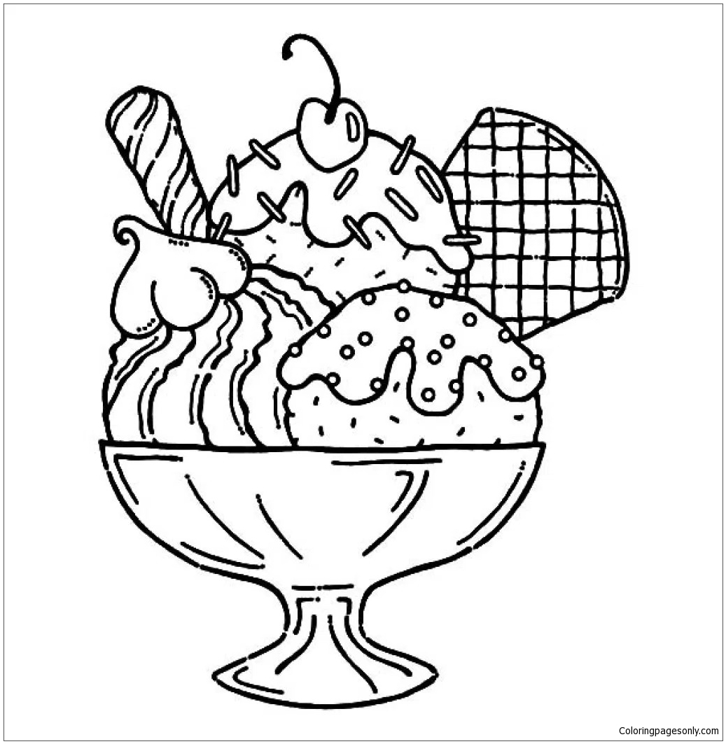 ice cream sundae coloring sheet ice cream sundae coloring page at getdrawings free download ice coloring sheet cream sundae