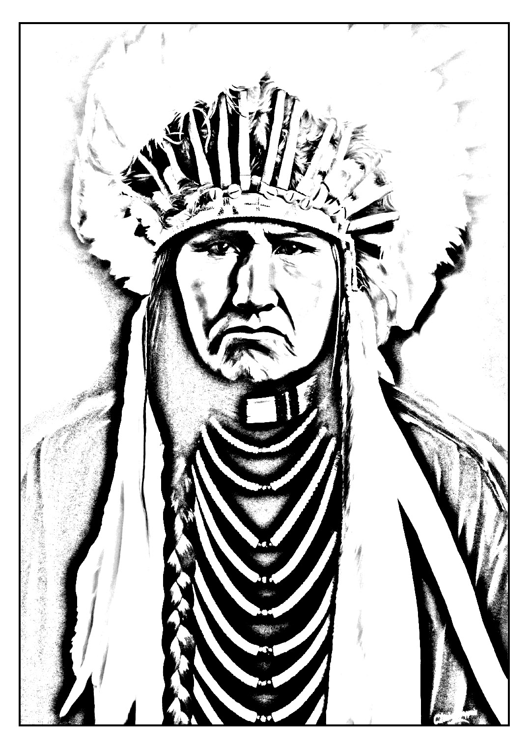 indian coloring pages indian chief coloring page at getcoloringscom free indian pages coloring