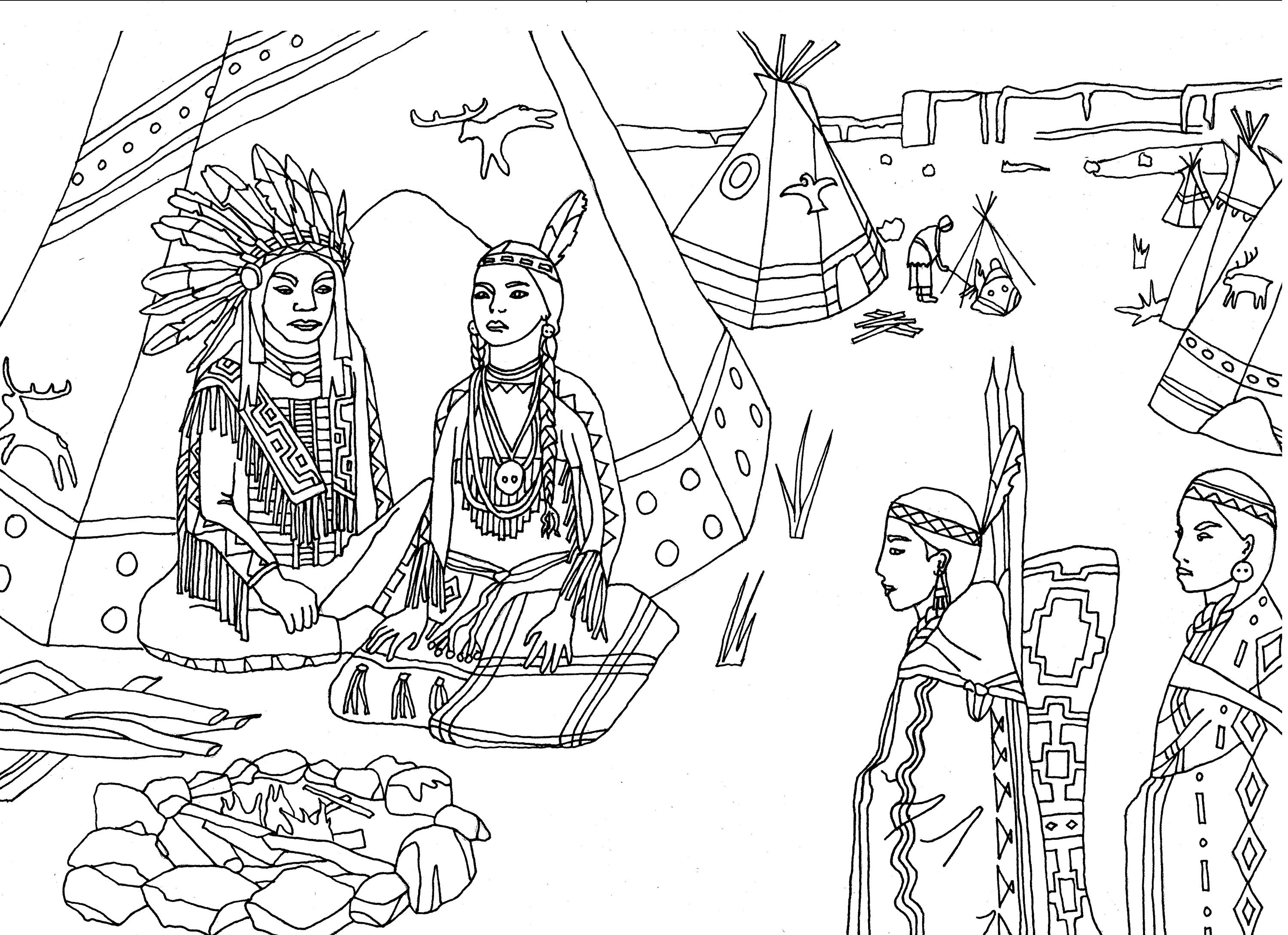 indian coloring pages indians for children indians kids coloring pages coloring pages indian