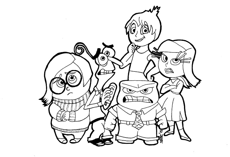 inside out coloring pages all characters inside out by kirto on deviantart characters pages out all inside coloring