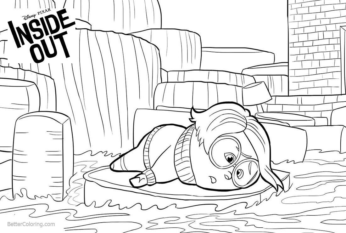 inside out coloring pages all characters inside out coloring pages disneyclipscom pages coloring all out inside characters