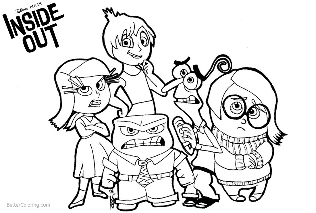 inside out coloring pages all characters inside out coloring pages getcoloringpagescom out inside pages characters all coloring