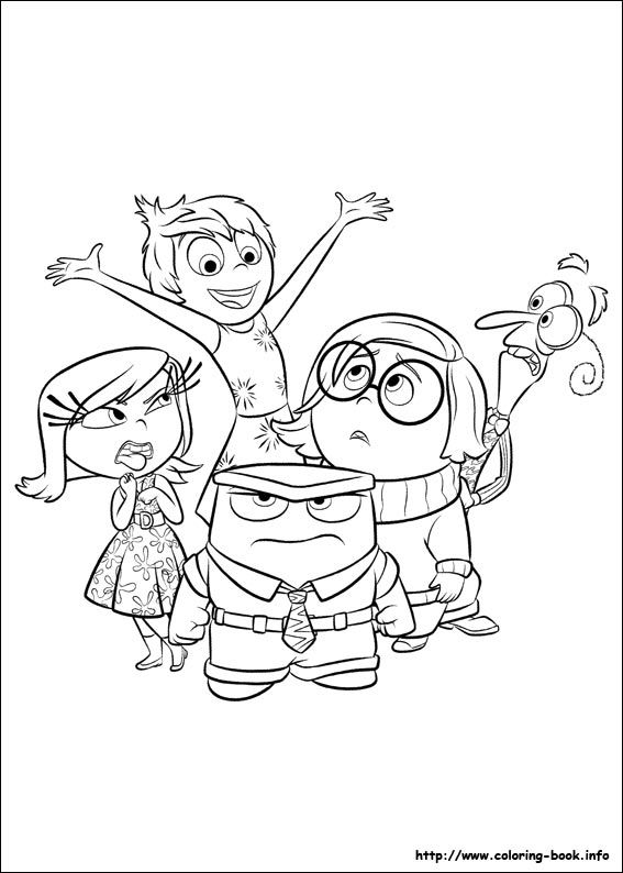 inside out coloring pages all characters inside out coloring picture meet the counselor out coloring all inside characters pages