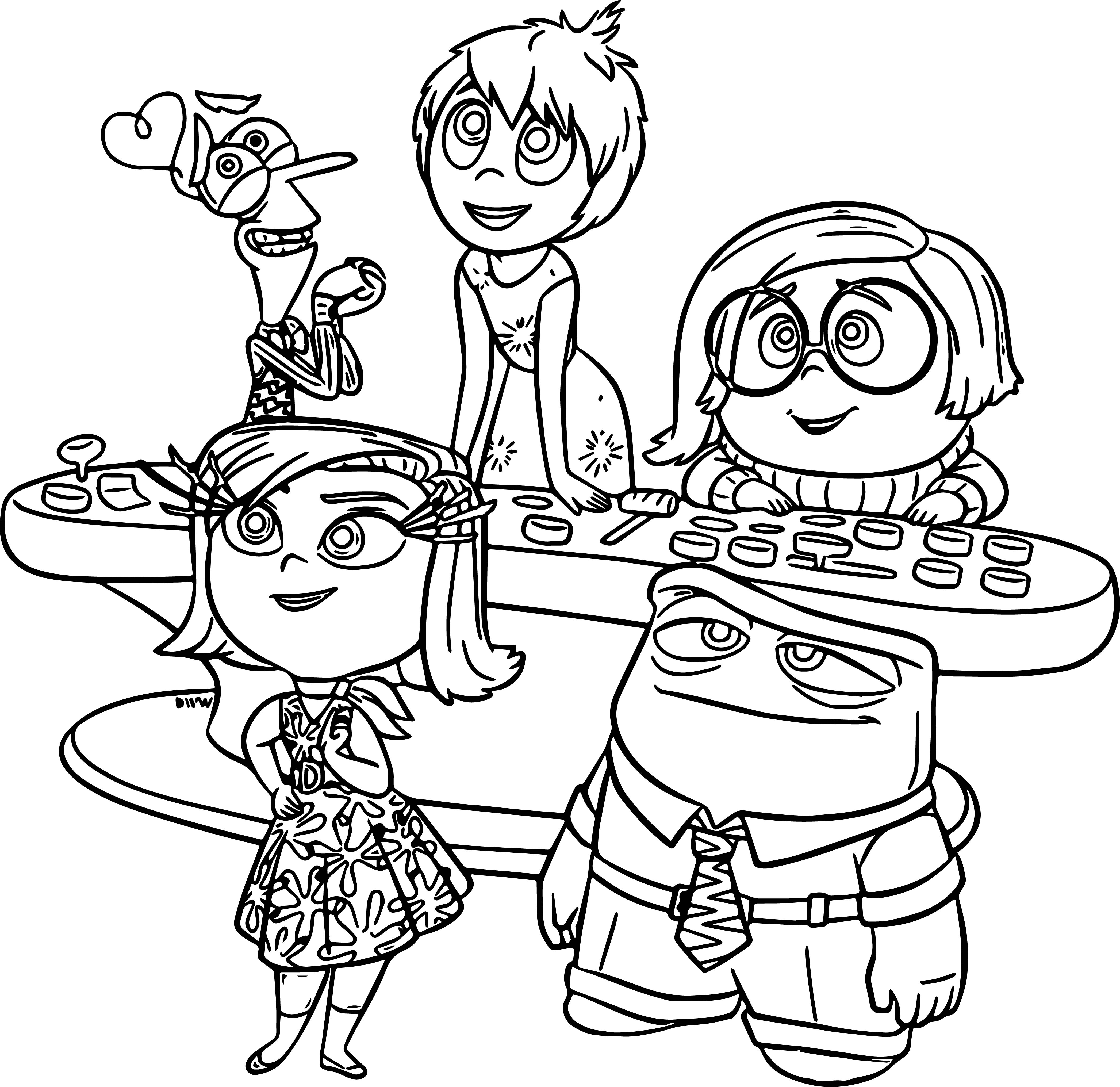 inside out coloring pages all characters inside out drawing at getdrawings free download all characters out inside pages coloring