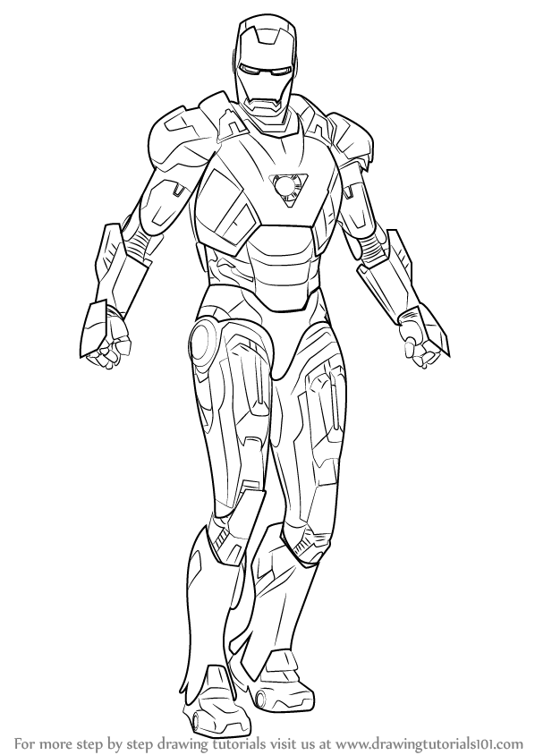 iron man outline drawing iron man line drawing at getdrawings free download outline man iron drawing
