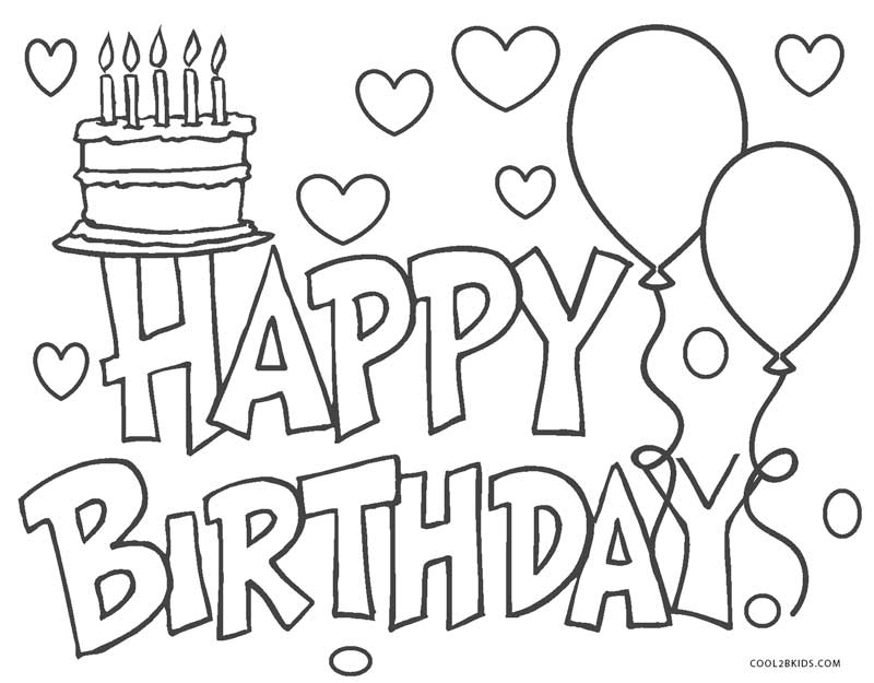 its my birthday coloring pages coloring pages happy birthday picture 9 pages its coloring my birthday