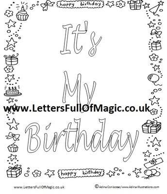 its my birthday coloring pages free printable happy birthday coloring pages for kids my birthday coloring pages its