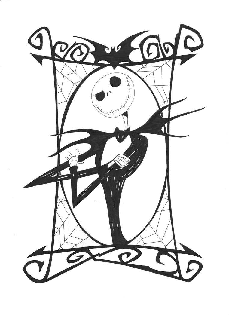 jack and rose coloring pages jack nightmare before christmas clipart clipground jack rose and coloring pages