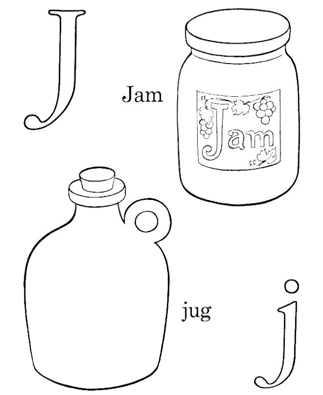 jam coloring page j for jam and jug coloring pages preschool coloring page coloring jam