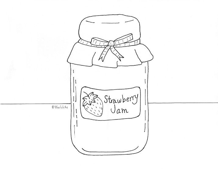 jam coloring page sweet silly sara j is for jam coloring page jam page coloring