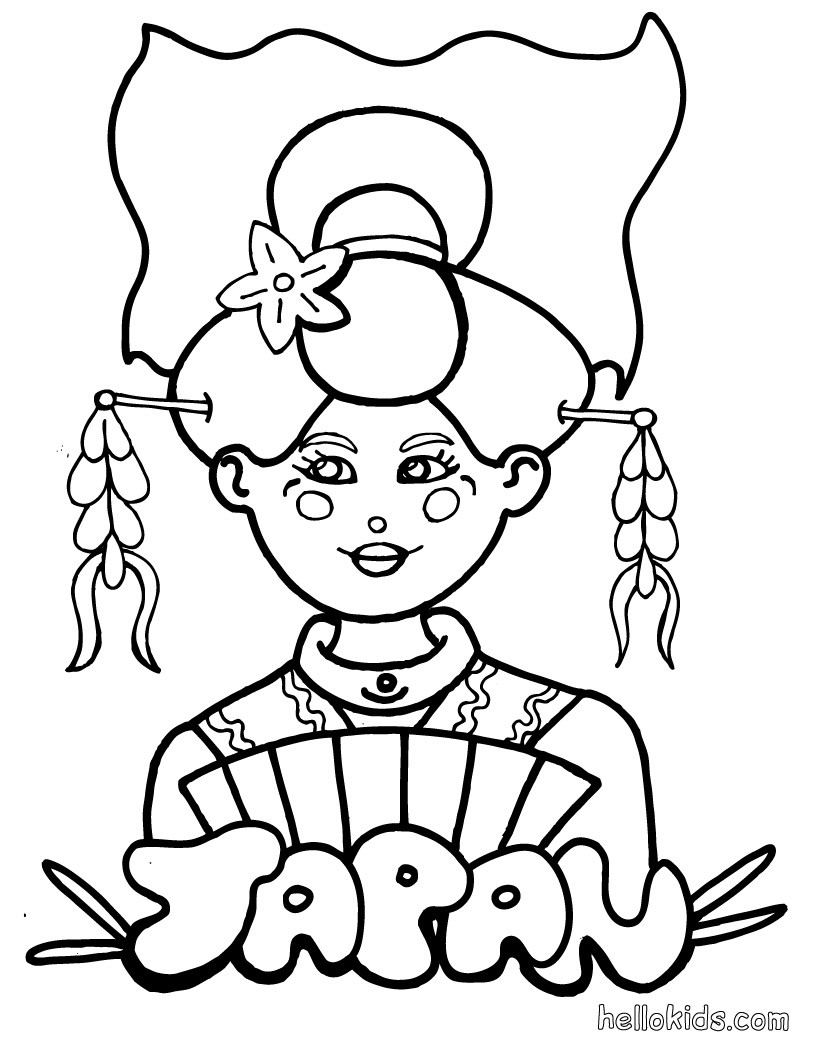 japanese coloring book pages japanese girl geisha coloring page netart pages book coloring japanese