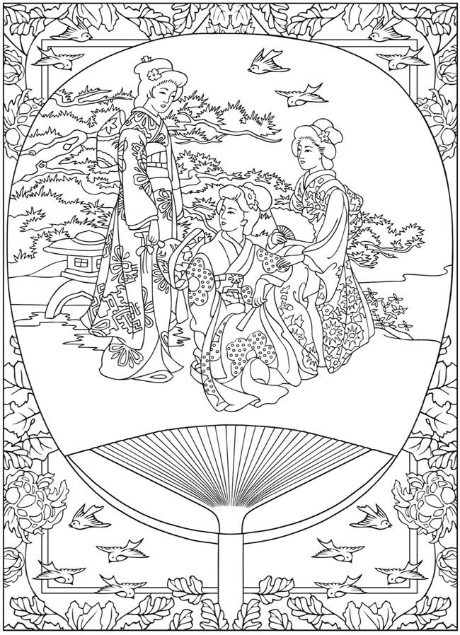 japanese coloring book pages japanese girl guide coloring page makingfriendsmakingfriends pages japanese coloring book