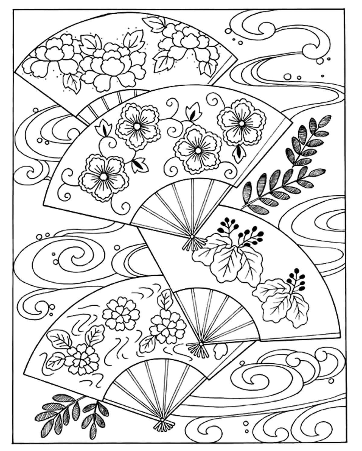 japanese coloring book pages japanese woman with hat japan adult coloring pages japanese coloring pages book